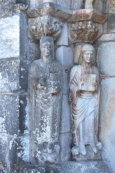 Nordportal, linke Seite: St.Just und St.Stephan, Saint-Just-de-Valcabrère