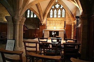 St Wulfram's Church, Grantham - The altar in St Wulfram's crypt