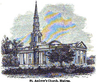 St Andrew's Church, Chennai - Image: St. Andrew's Church, Madras (Mac Leod, p.120, 1871) Copy