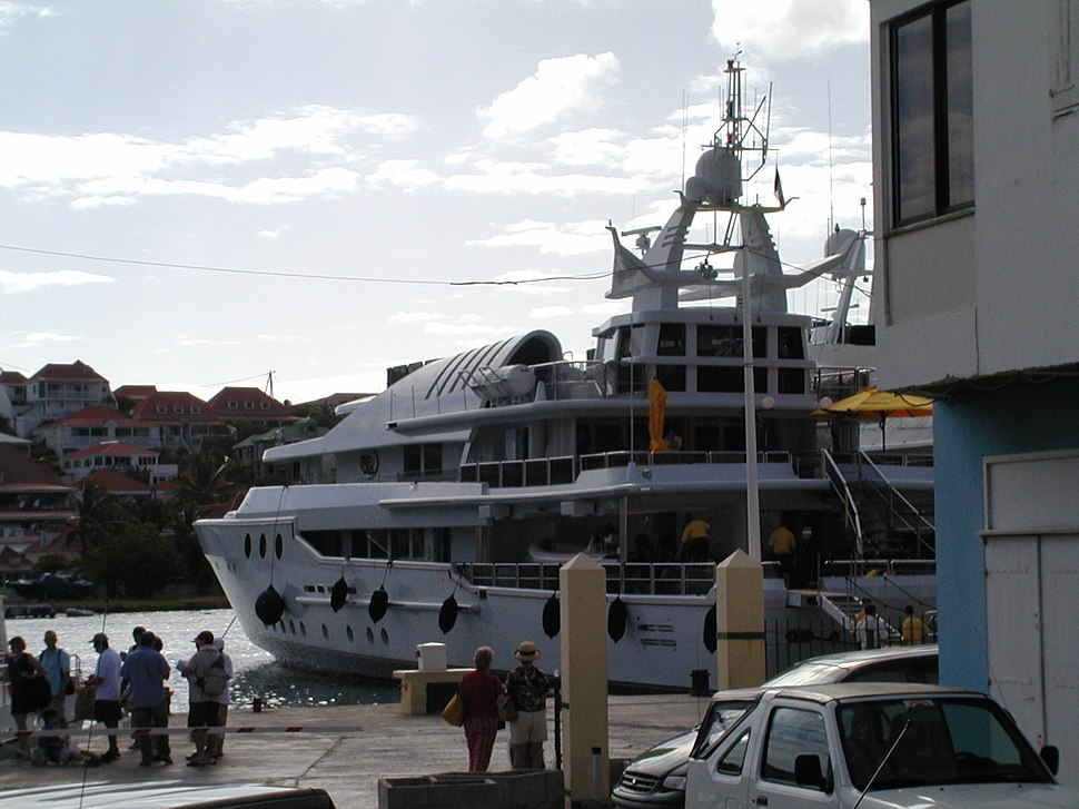 St. Barts private boat docked
