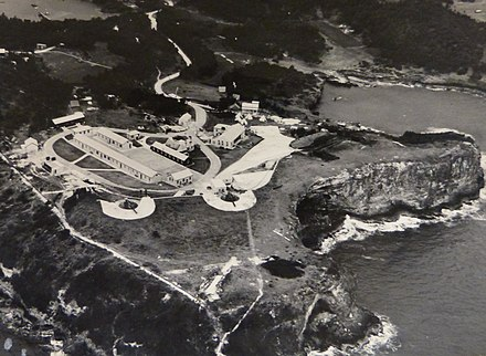 "St. David's Battery, Bermuda in 1942, completed in 1910 with two 9.2"" and two 6"" coastal artillery guns St. David's Battery, Bermuda in 1942.jpg"