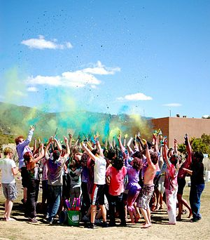 St. John's College (Annapolis/Santa Fe) - Holi Celebration at Santa Fe Campus