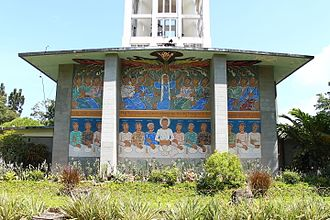 St. Joseph the Worker Chapel, Victorias - Mural on the rear wall