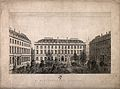 St Bartholomew's Hospital, London; the courtyard with promin Wellcome V0012997.jpg
