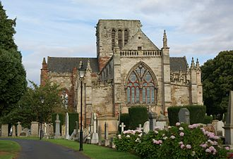 Siege of Haddington - The restored Church of St. Mary the Virgin, heavily damaged during the sieges