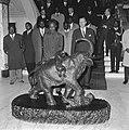 Staatsbezoek president Nyerere van Tanzania, president Nyerere bezoek gebracht a, Bestanddeelnr 917-6724.jpg