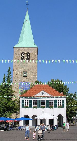 Dorsten - Historical town hall and St. Agatha cathedral