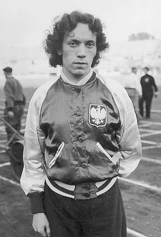 1934 Women's World Games - Stanisława Walasiewicz, winner of the 60 metres event