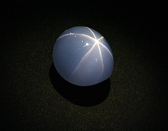 Harry Frank Guggenheim Hall of Gems and Minerals - The Star of India, one of many gems stolen in a 1964 heist; it was later recovered from a bus locker.