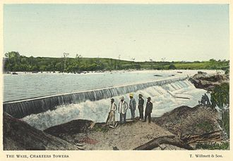 Burdekin River - Charters Towers weir, 1904