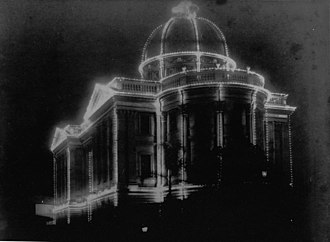 Customs House, Brisbane - Image: State Lib Qld 2 157795 Customs House by night during the Duke of York's visit to Brisbane, 1901