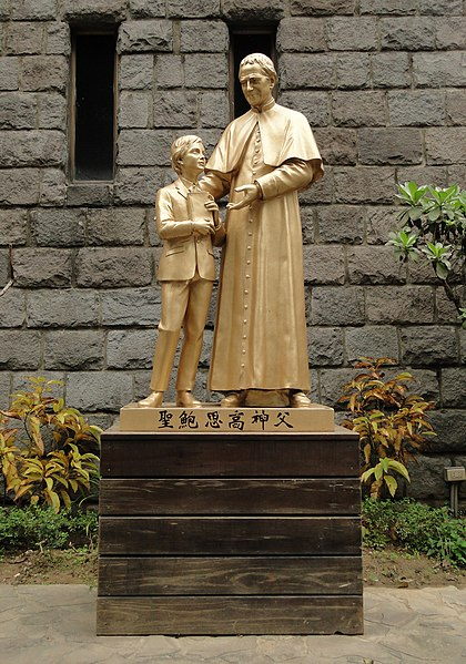 File:Statue of Don Bosco at St. John Bosco Parish Church, Taipei 20110314b.jpg