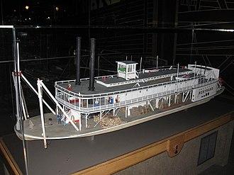 Bertrand (steamboat) - Model of the Bertrand