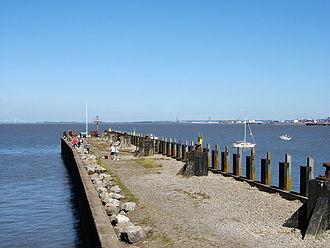 Portishead, Somerset - The steamer pier from the Royal Hotel