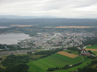 Steinkjer (town) - View of the town seen from the southeast