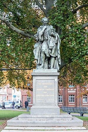 Johann Joachim Winckelmann - Winckelmann statue, Winckelmannplatz, Stendal, Germany