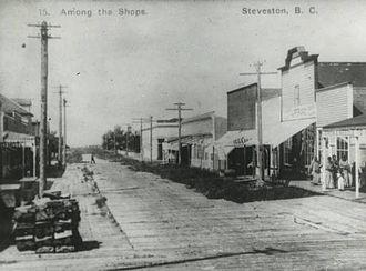 Steveston, British Columbia - Views of streets and shops at Steveston, B.C.