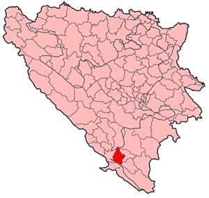 Stolac - Image: Stolac Municipality Location