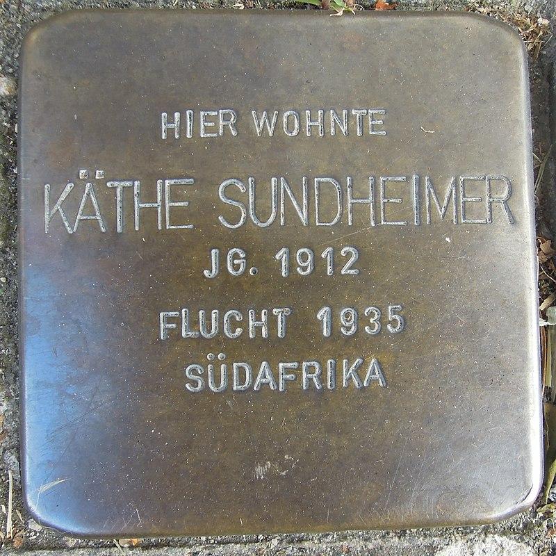 Stolperstein für Käthe Sundheimer