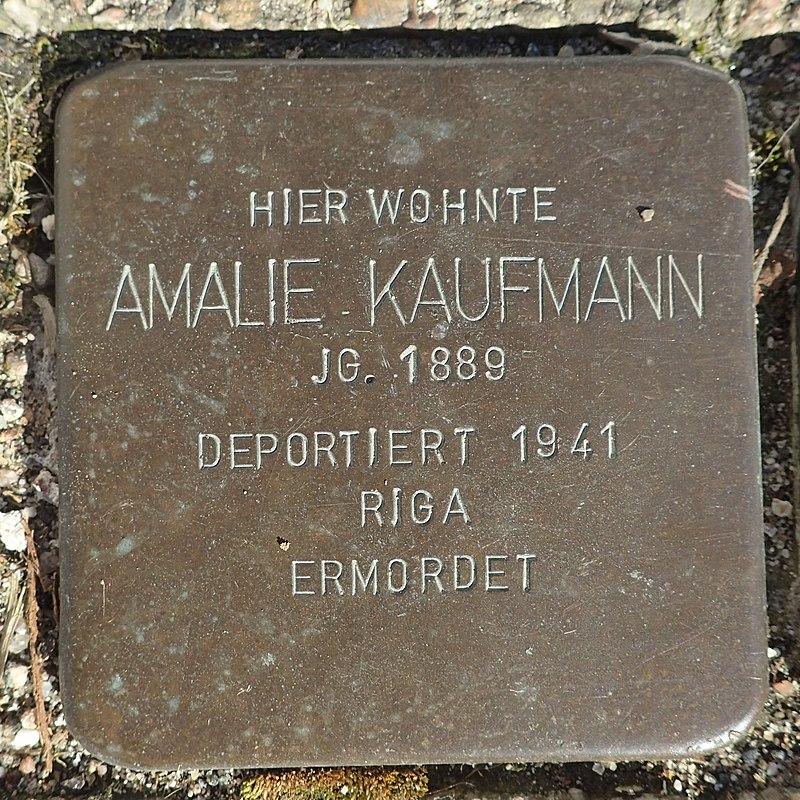 Stolperstein Rheurdt Rathausstraße 70 Amalie Kaufmann