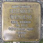 Stolperstein für Rosemarie Weinberg