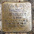 Stolperstein Salzburg, Philomena Steinberger (Markus-Sittikus-Straße 23).jpg