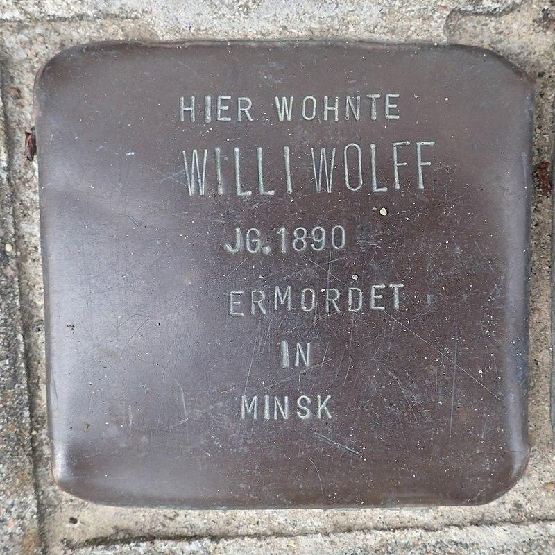 Stolperstein Westerhafenstraße 14 Willi Wolff.jpg