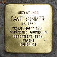Stolperstein für David Sommer (1880) in Memmingen.jpg