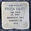 Stolperstein Schleusenstraße 15 Valfer Frieda