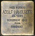 Stolpersteine Würzburg, Adolf Hamburger (Domstraße 26).jpg