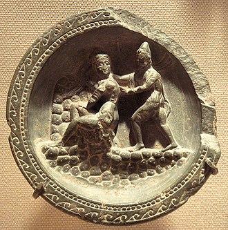 Stone palette - Image: Stone Palette Apollo And Daphne