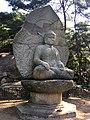 Stone statue of the Buddha seated at Samneung-gye 1.jpg