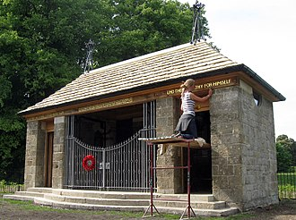 North Stoneham Park - The restored war shrine in 2011