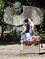 Street Scene with Women and Sculpture - Tartu - Estonia (36115791326).jpg