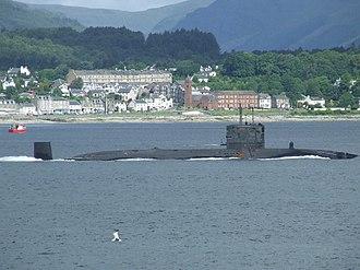 Dunoon - Submarine passing Kirn