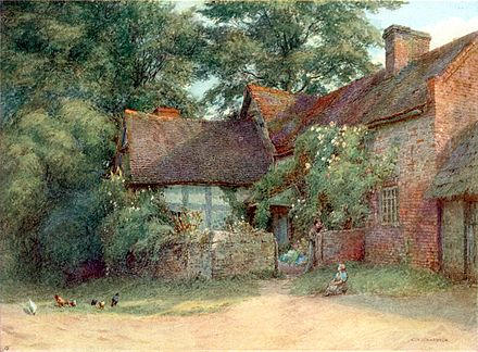 Suckley, Worcestershire. From a water-colour drawing by E. A. Chadwick - 1906