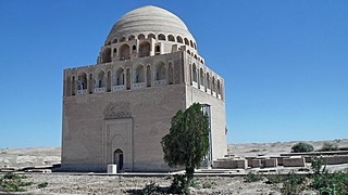 Tomb of Ahmed Sanjar mausoleum in Merv, Turkmenistan
