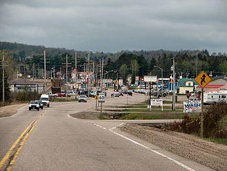 Sundridge, Ontario - Highway 124 through Sundridge close to Highway 11.