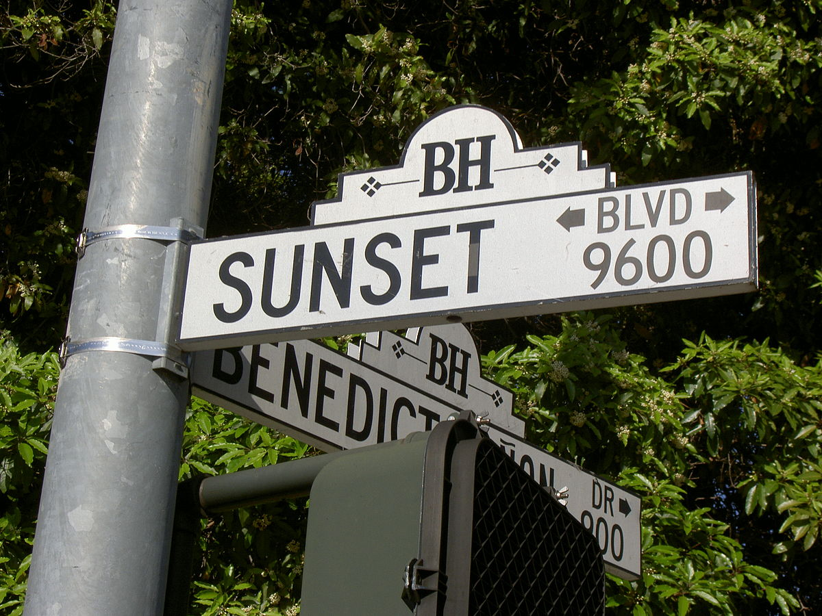 Bel Air Car >> Sunset Boulevard - Simple English Wikipedia, the free encyclopedia