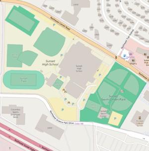 Sunset High School (Beaverton, Oregon) - Campus map