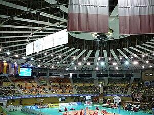 Suwon Gymnasium - Image: Suwon Gymnasium indoor