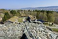 Sverresborg Trøndelag Folkemuseum Open air Cultural history museum Trondheim Norway 2019-04-26 Borgen Sion Zion Ruins of King Sverre's Castle 1182–83 View Oppdalstunet The city etc 05995.jpg