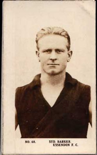 1924 VFL season - Essendon's premiership captain-coach Syd Barker