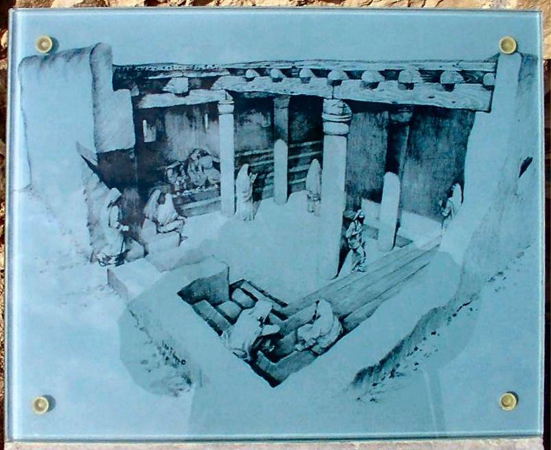 Synagogue massada reconstruction