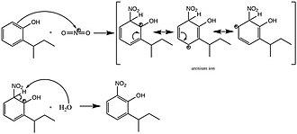 Dinoseb - Image: Synthesis of dinoseb step 3