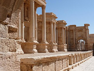 Syrian Desert - Palmyra was an important trading center located in the Syrian desert