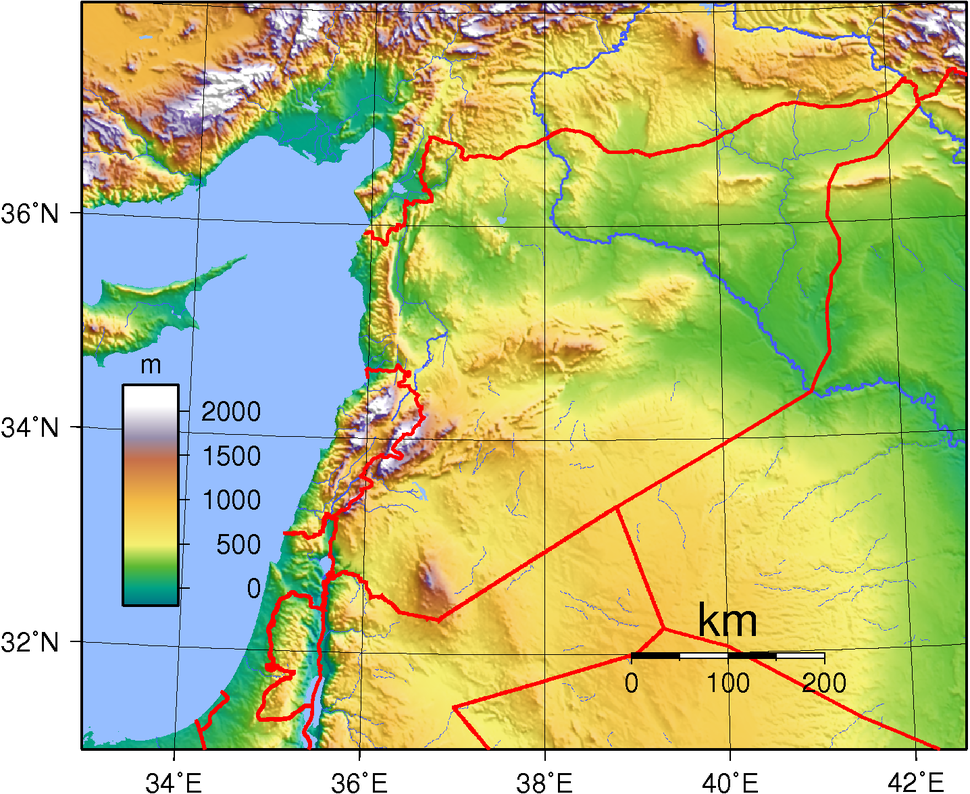 Syria Topography