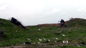 Syriac Military Council - Syriac Military Council fighters near Tell Tamer, February 2015