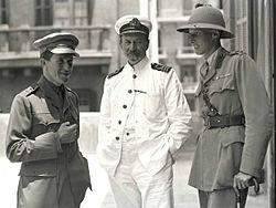 T.E. Lawrence; D.G. Hogarth; Lt. Col. Dawnay.jpg