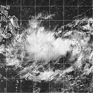 2001 Pacific typhoon season - Image: TD Barok 18 apr 2001 0728Z